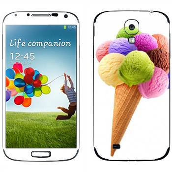 Виниловая наклейка «Мороженое разноцветные шарики» на телефон Samsung Galaxy S4