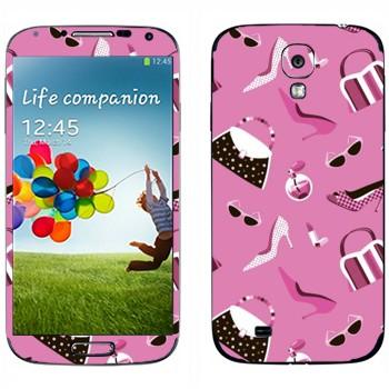 Виниловая наклейка «Набор девушки» на телефон Samsung Galaxy S4