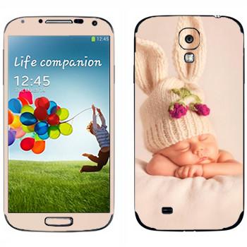 Виниловая наклейка «Ребенок-кролик» на телефон Samsung Galaxy S4