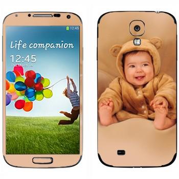 Виниловая наклейка «Ребенок-медвежонок» на телефон Samsung Galaxy S4