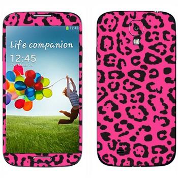 Виниловая наклейка «Шкура розового леопарда» на телефон Samsung Galaxy S4
