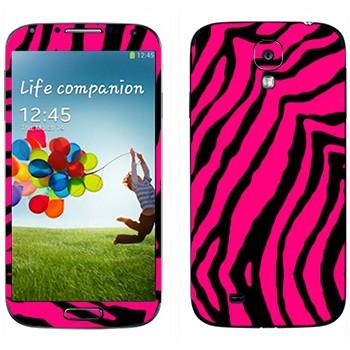 Виниловая наклейка «Шкура розовой зебры» на телефон Samsung Galaxy S4