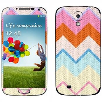 Виниловая наклейка «Трикотажные зигзаги» на телефон Samsung Galaxy S4