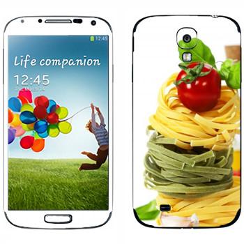 Виниловая наклейка «Цветная паста» на телефон Samsung Galaxy S4