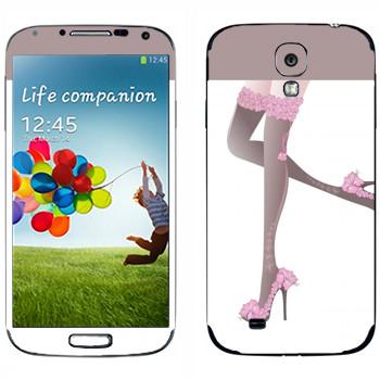 Виниловая наклейка «Цветочные туфли» на телефон Samsung Galaxy S4
