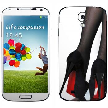 Виниловая наклейка «Туфли на высоких каблуках с красной подошвой» на телефон Samsung Galaxy S4