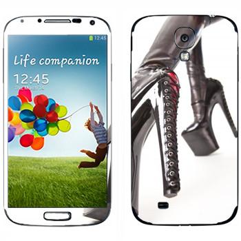 Виниловая наклейка «Туфли высокий каблук со шнуровкой» на телефон Samsung Galaxy S4