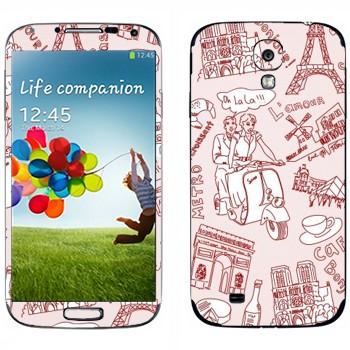 Виниловая наклейка «Узор Париж» на телефон Samsung Galaxy S4