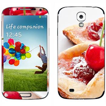 Виниловая наклейка «Вишневая булочка» на телефон Samsung Galaxy S4