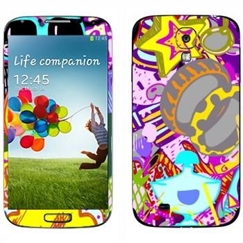 Виниловая наклейка «Всякая всячина» на телефон Samsung Galaxy S4