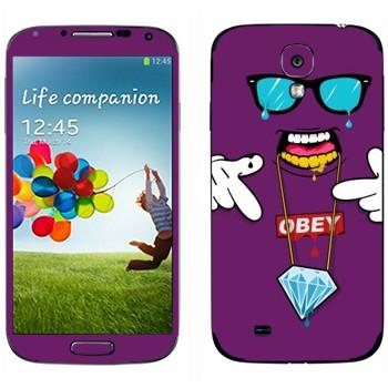 Виниловая наклейка «OBEY - SWAG» на телефон Samsung Galaxy S4