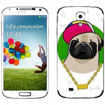 Виниловая наклейка «Мопс - SWAG» на телефон Samsung Galaxy S4