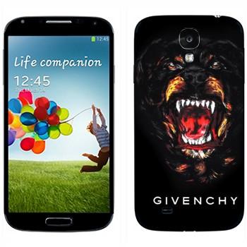 Виниловая наклейка «Ротвейлер Givenchy» на телефон Samsung Galaxy S4