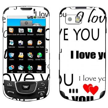 Виниловая наклейка «I Love You - День Святого Валентина» на телефон Samsung Galaxy