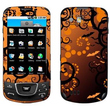 Виниловая наклейка «Хэллоуин тема» на телефон Samsung Galaxy