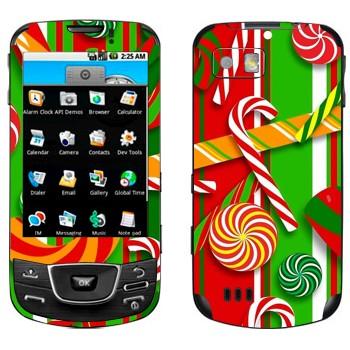 Виниловая наклейка «Новогодние сладости» на телефон Samsung Galaxy
