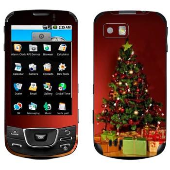 Виниловая наклейка «Новогодняя ёлка» на телефон Samsung Galaxy