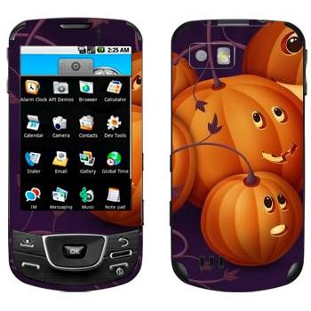 Виниловая наклейка «Няшные тыковки - Хэллоуин» на телефон Samsung Galaxy