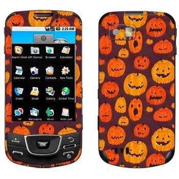 Виниловая наклейка «Разные тыквы к Хэллоуину» на телефон Samsung Galaxy