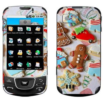 Виниловая наклейка «Рождественские печеньки» на телефон Samsung Galaxy
