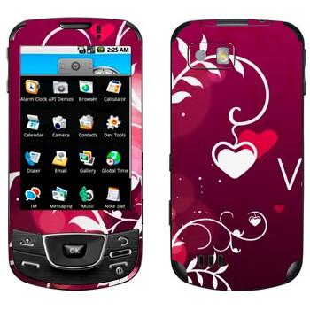 Виниловая наклейка «Сердечки на День Святого Валентина» на телефон Samsung Galaxy