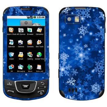 Виниловая наклейка «Снежинки - Новый Год» на телефон Samsung Galaxy