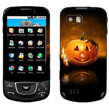 Виниловая наклейка «Тыква и паук» на телефон Samsung Galaxy