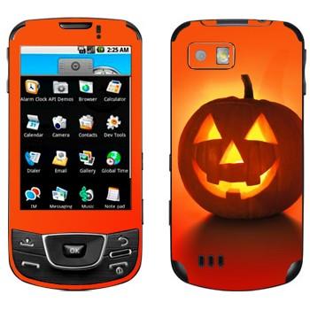 Виниловая наклейка «Тыква на Хэллоуин» на телефон Samsung Galaxy