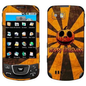 Виниловая наклейка «Тыква Happy Halloween» на телефон Samsung Galaxy