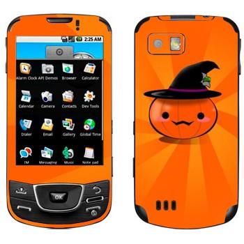 Виниловая наклейка «Тыква в шляпе - Хэллоуин» на телефон Samsung Galaxy