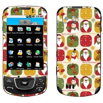 Виниловая наклейка «Веселого Рождества» на телефон Samsung Galaxy