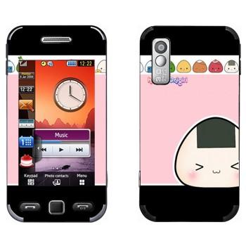 Виниловая наклейка «Kawaii Onigirl» на телефон Samsung S5230