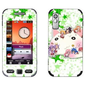 Виниловая наклейка «Lucky Star - персонажи» на телефон Samsung S5230