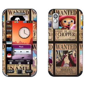 Виниловая наклейка «One Piece - постер Разыскиваются» на телефон Samsung S5230