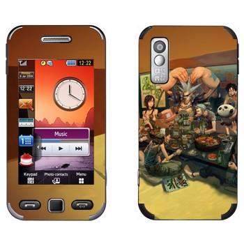 Виниловая наклейка «One Piece - трапеза» на телефон Samsung S5230