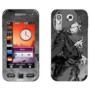 Виниловая наклейка «Афросамурай голова медведя» на телефон Samsung S5230