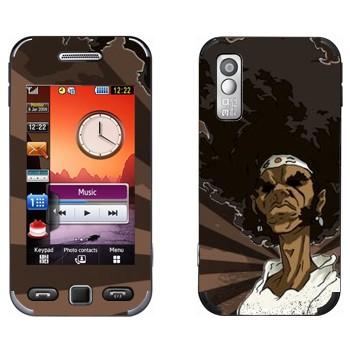 Виниловая наклейка «Афросамурай полупрофиль» на телефон Samsung S5230