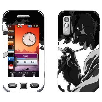 Виниловая наклейка «Афросамурай профиль» на телефон Samsung S5230