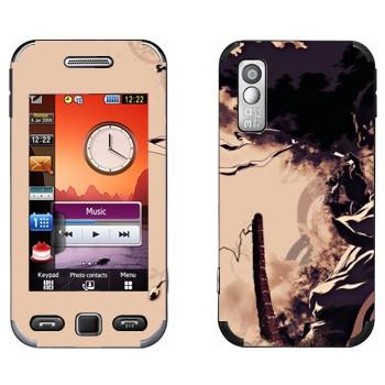 Виниловая наклейка «Афросамурай» на телефон Samsung S5230