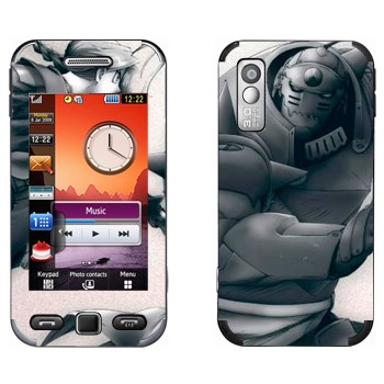 Виниловая наклейка «Альфонс и Эдвард Элрики - Fullmetal Alchemist» на телефон Samsung S5230