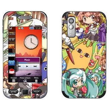 Виниловая наклейка «Анимешные персонажи» на телефон Samsung S5230