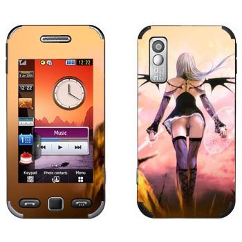 Виниловая наклейка «Демон-воительница» на телефон Samsung S5230