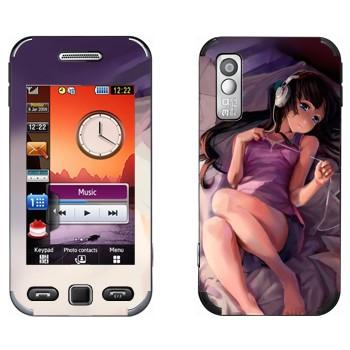 Виниловая наклейка «Девушка с iPod - K-on» на телефон Samsung S5230