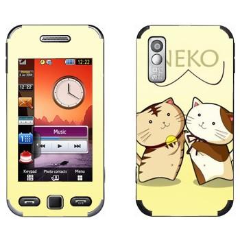 Виниловая наклейка «Два Neko» на телефон Samsung S5230