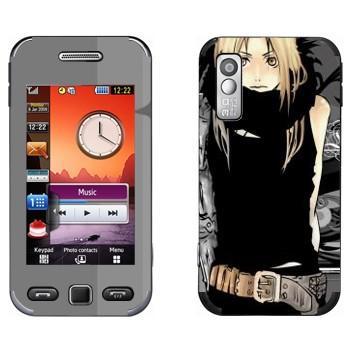 Виниловая наклейка «Эдвард Элрик - Fullmetal Alchemist» на телефон Samsung S5230