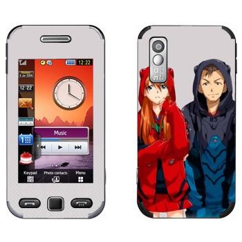 Виниловая наклейка «Евангелион» на телефон Samsung S5230