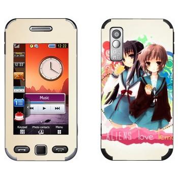Виниловая наклейка «Харухи и Юки - Меланхолия Харухи Судзумии» на телефон Samsung S5230