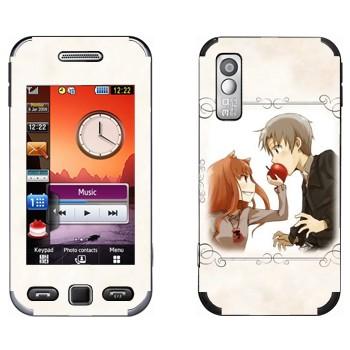 Виниловая наклейка «Холо и Крафт - Spice and wolf» на телефон Samsung S5230