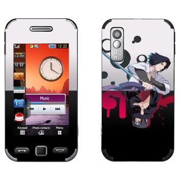 Виниловая наклейка «Итачи Учиха и Саске Учиха» на телефон Samsung S5230