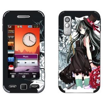 Виниловая наклейка «K-On! Девушка в черном» на телефон Samsung S5230